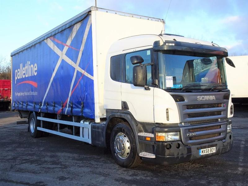 Scania P230 18 Tonne Curtain Side Truck For Sale | HGV
